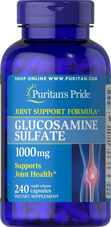 Puritans Pride Glucosamine Sulfate 1000 mg Capsules, 240 Count