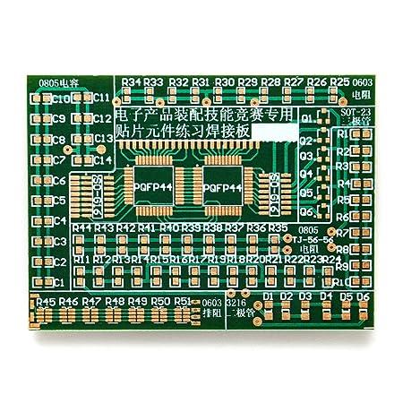 Gikfun principiante DIY SMD/SMT componentes práctica Junta Kit de soldadura Skill formación AE1173: Amazon.es: Electrónica