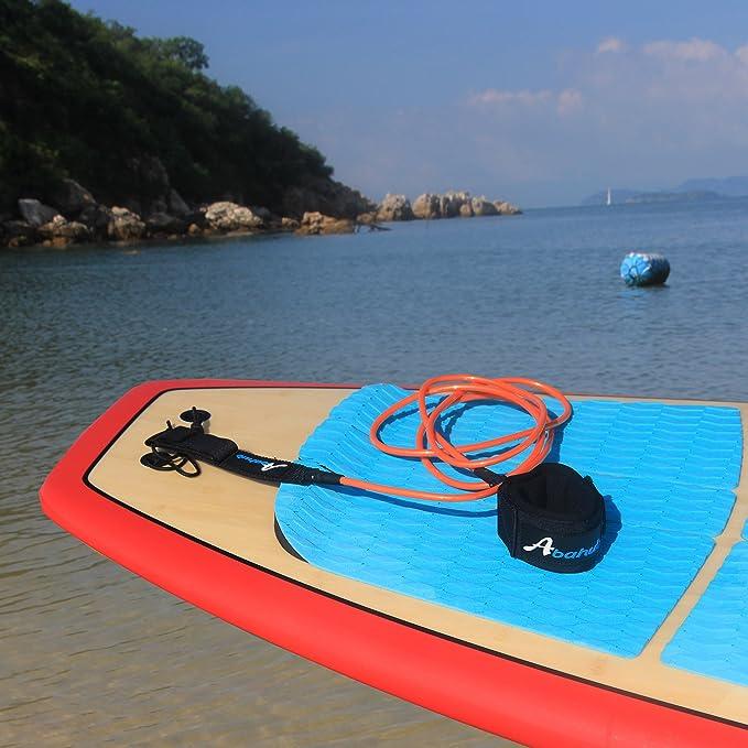 ABAHUB - Cuerda para Tabla de Surf (Recta, 2,7 x 2,3 m): Amazon.es: Deportes y aire libre