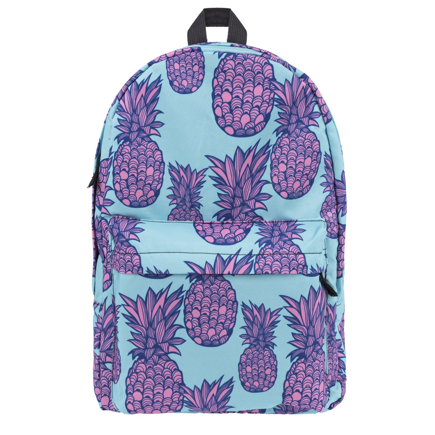 ed6dd9d3ab Pulama Canvas Cute Printed Backpack Emoji Unicon School Bag Large Capacity  Daypack Purple Pineapple  Amazon.in  Toys   Games