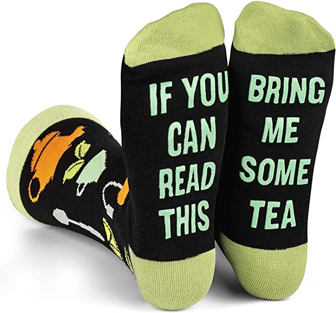 Lavley - If You Can Read This Bring Me Novelty Socks - Funny Dress Socks For Men and Women