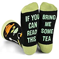 Lavley - If You Can Read This Bring Me Novelty Socks - Funny Dress Socks For Men...
