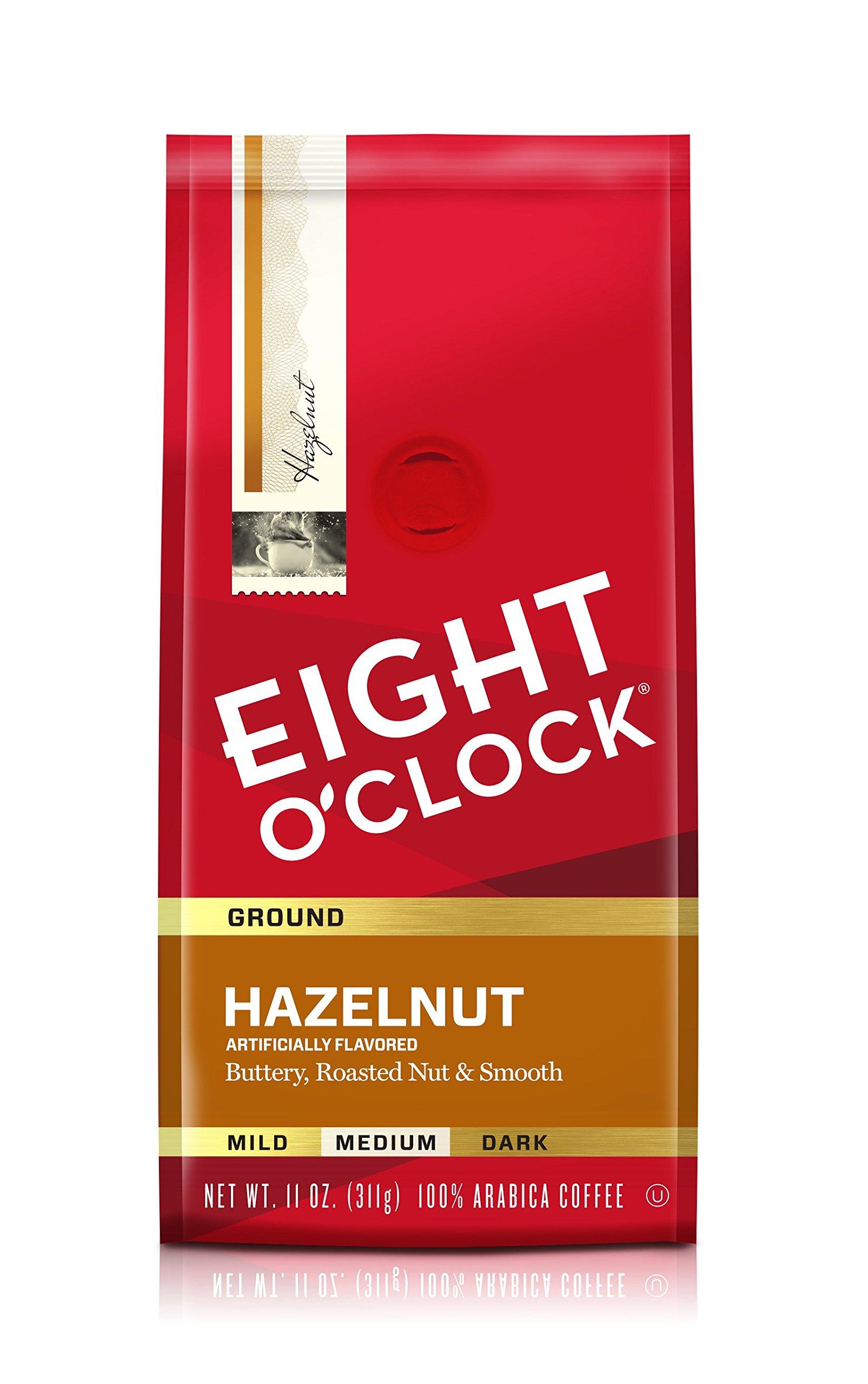 Eight O'Clock Ground Coffee, Hazelnut, 11 Ounce (Pack of 6)