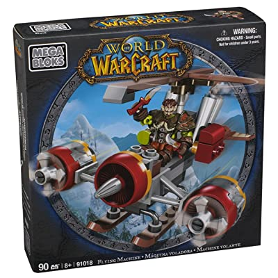 Mega Bloks World of Warcraft Flying Machine and Flint (Alliance Gnome Rogue): Toys & Games