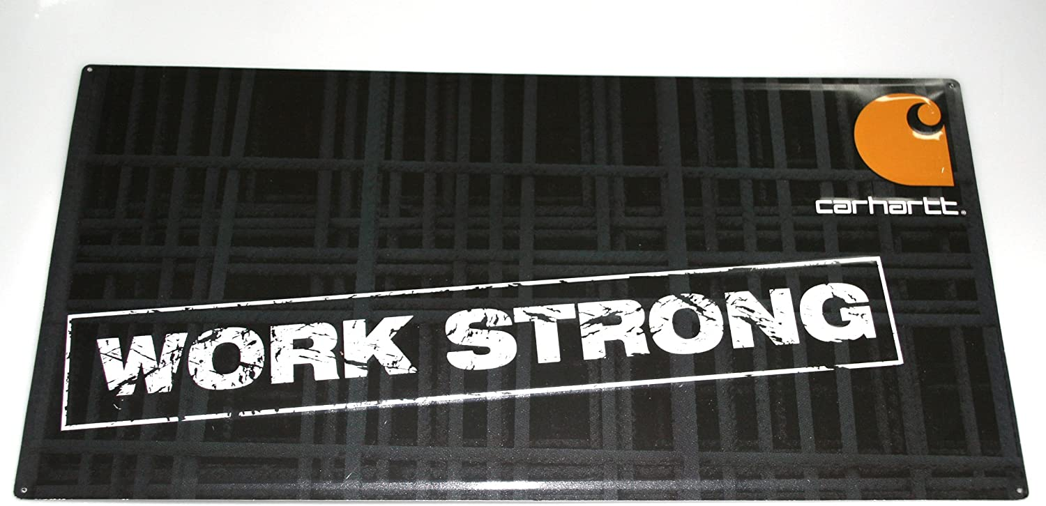 Carhartt Embossed Work Strong Sign