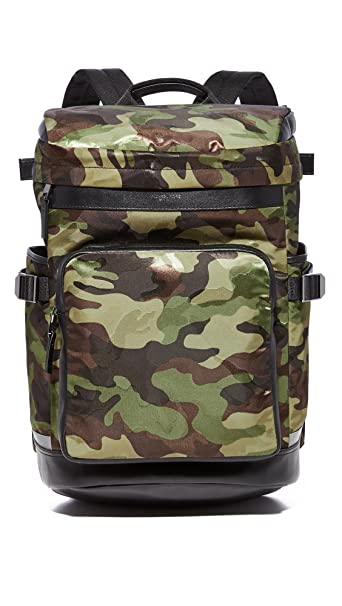 2defc0a59c9b Michael Kors Men's Kent Camo Nylon Cycling Backpack, Military, One Size