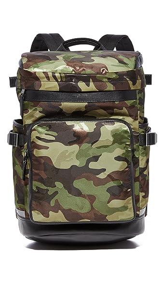 d1ad4cbb1f75be Michael Kors Men's Kent Camo Nylon Cycling Backpack, Military, One Size