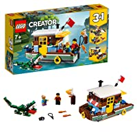 LEGO 31093 Creator 3-in-1 Riverside Houseboat Building Kit, Colourful