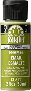 product image for FolkArt Enamel Glass & Ceramic Paint in Assorted Colors (2 oz), 4121, Forest Moss