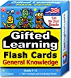 TestingMom.com Gifted Learning Flash Cards – General Knowledge for 1st - 2nd Grade – Gifted and Talented Educational Toy for CogAT Test, Iowa Test (ITBS), OLSAT, NYC Gifted, WPPSI, AABL, & More