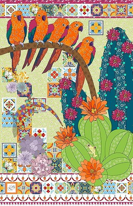 amazon com cactus tea towel by mollymac cute kitchen home decor