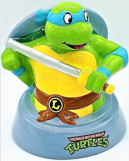 Teenage Mutant Ninja Turtles Leonardo Ceramic Piggy Bank Leo Coin