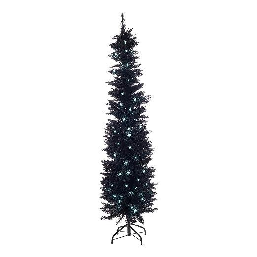 separation shoes 9fa57 41786 The Christmas Workshop 110 White LED Pre Lit 6ft Black 560 Tip Slim Line  Christmas Tree