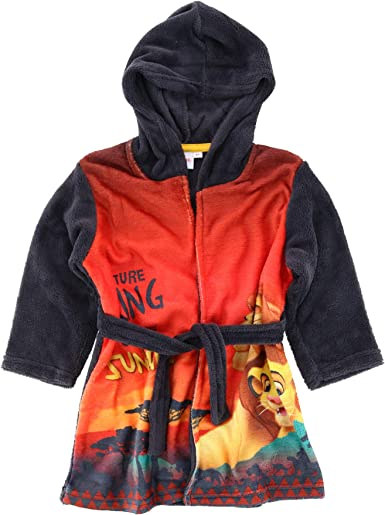Lion King Available in 5 Sizes Oh Sew Simple Simba Boys Personalised Fleece Dressing Gown//Bathrobe