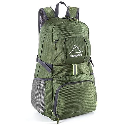 f825a49ebd7e Amazon.com  ELEMENTEX Foldable Hiking Backpack - Green  Sports ...