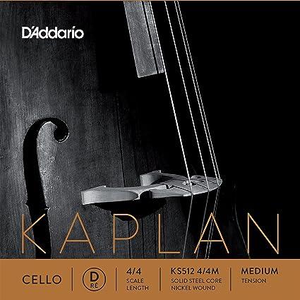 D/'Addario Helicore Cello Single D String 4//4 Scale Medium Tension