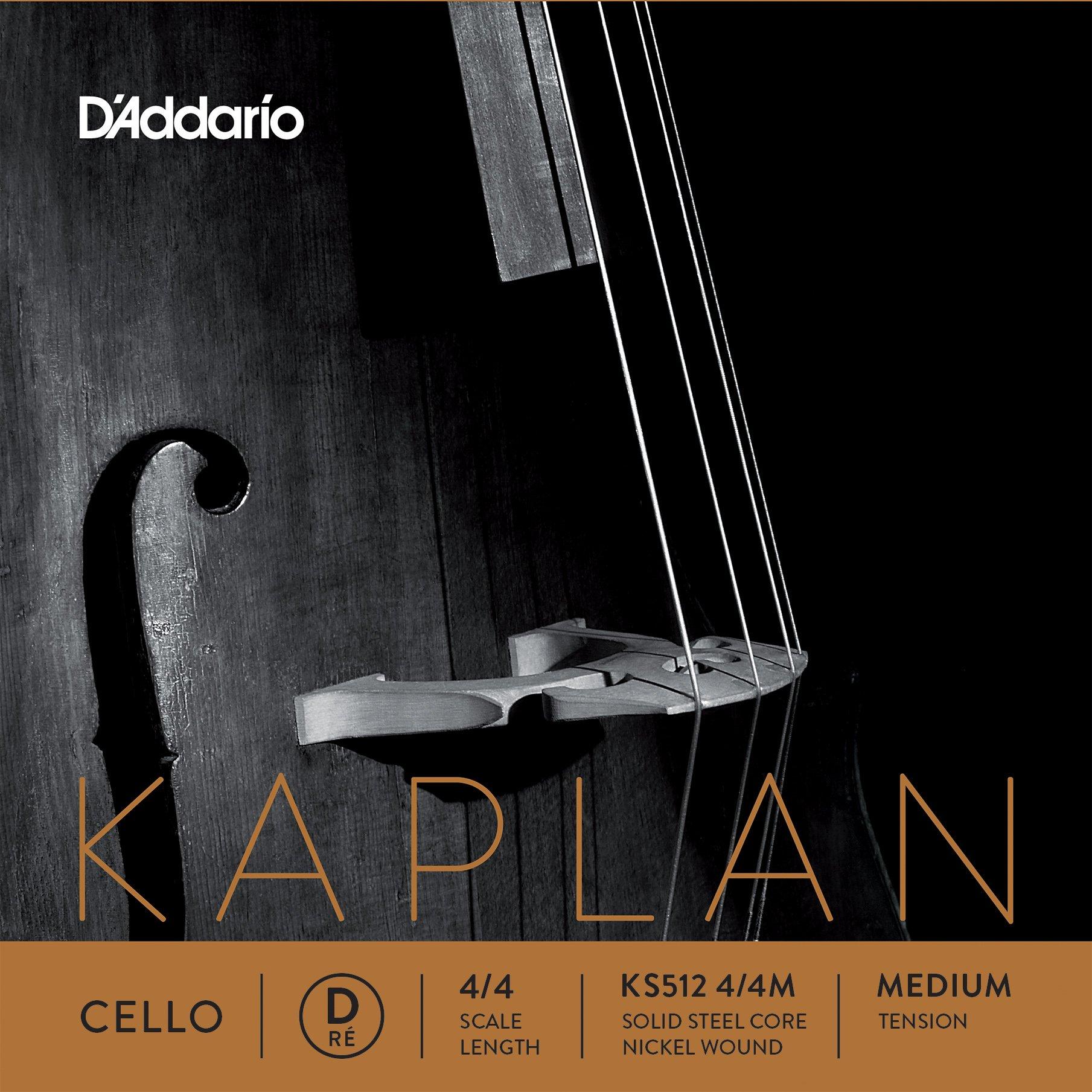 D'Addario Kaplan Cello Single D String, 4/4 Scale, Medium Tension