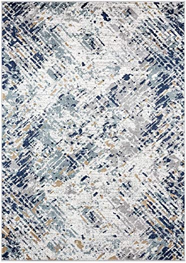 Luxe Weavers Hampstead Abstract Multi Colored 8×10 Area Rug