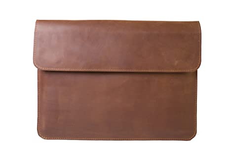 33c3f4e03122 Amazon.com: InCarne Leather Laptop Sleeve Leather Cover Case for ...