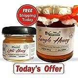 Farm Naturelle Wild Forest/Jungle Honey (250 Gms+40Gms another flower Honey Bottle)
