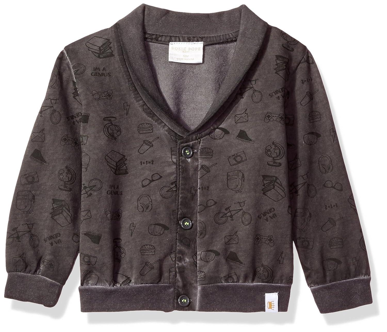 Rosie Pope Baby Boys Garment Dyed Cardigan RPBF7B006-GRY