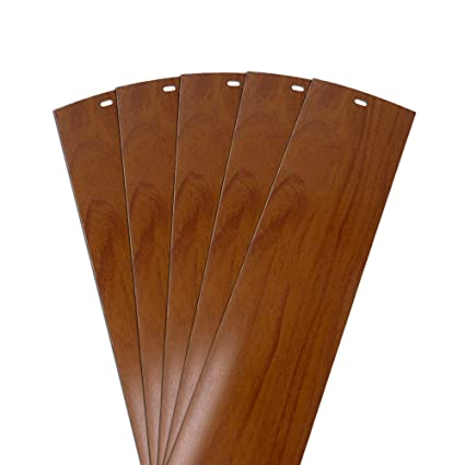 Dalix Wood Vinyl Vertical Blinds Parts Repair Set Walnut 825 High Window 5 Pack