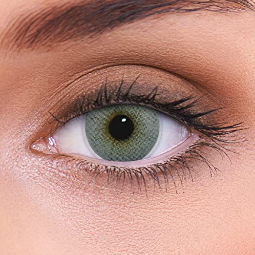 """Stark deckende natürliche graue Kontaktlinsen farbig """"Atlantis Grey"""" + Behälter von LENZOTICA I 1 Paar (2 Stück) I DIA 14.00"""