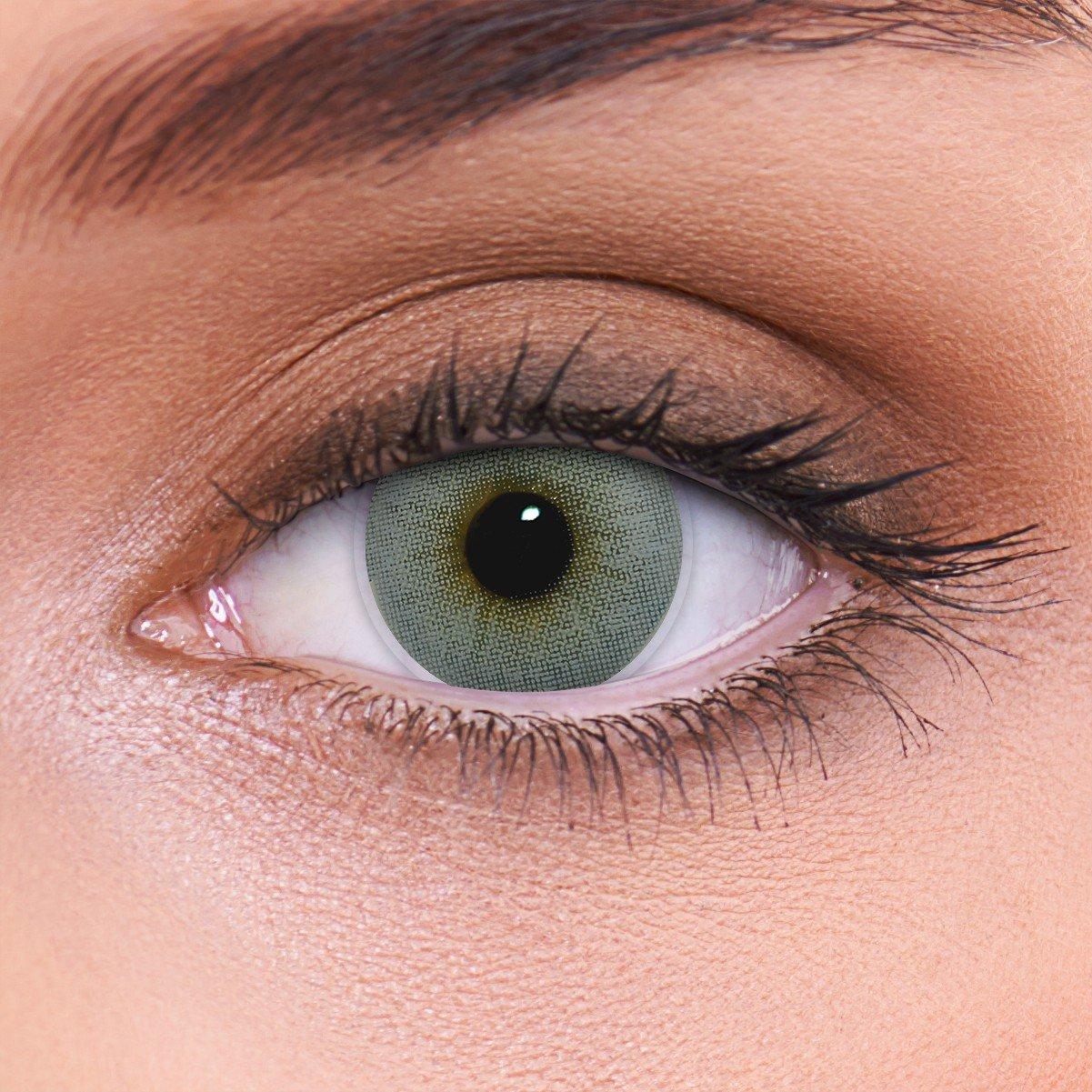 84bbad14ab Cubriendo fuertemente las lentes de contacto grises naturales  color