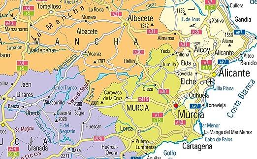 España mapa político – Papel laminado – tamaño A0 – 84,1 x 118.9 cm: Amazon.es: Oficina y papelería