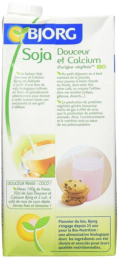 LECHE SOJA CALCIO 1L. BJORG: Amazon.es: Alimentación y bebidas