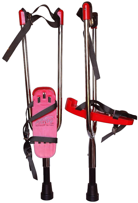 Actoy® Stelzen Paar, Rot  Erwachsene bis 180 cm
