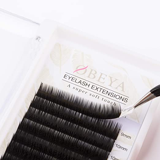 a600be7ee64 Amazon.com: C Curl Eyelash Extensions .25 Thickness 8-15mm Mixed Tray Soft  Volume Natural Silk Individual Lash Extensions for Salon Perfect Use by  OBEYA: ...