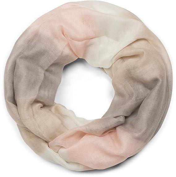 styleBREAKER Snood écharpe loop avec rayures en dégradé de couleurs,  unisexe, 01018097, couleur f5f73cc4837