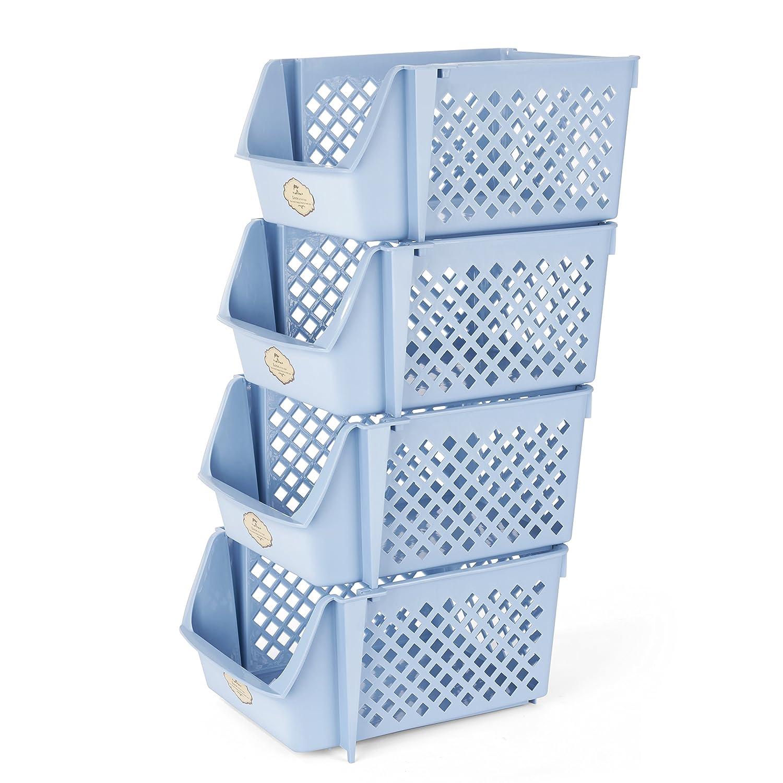 Amazon.com: Titan Mall Supplies Storage Bins Stackable Storage Bins ...