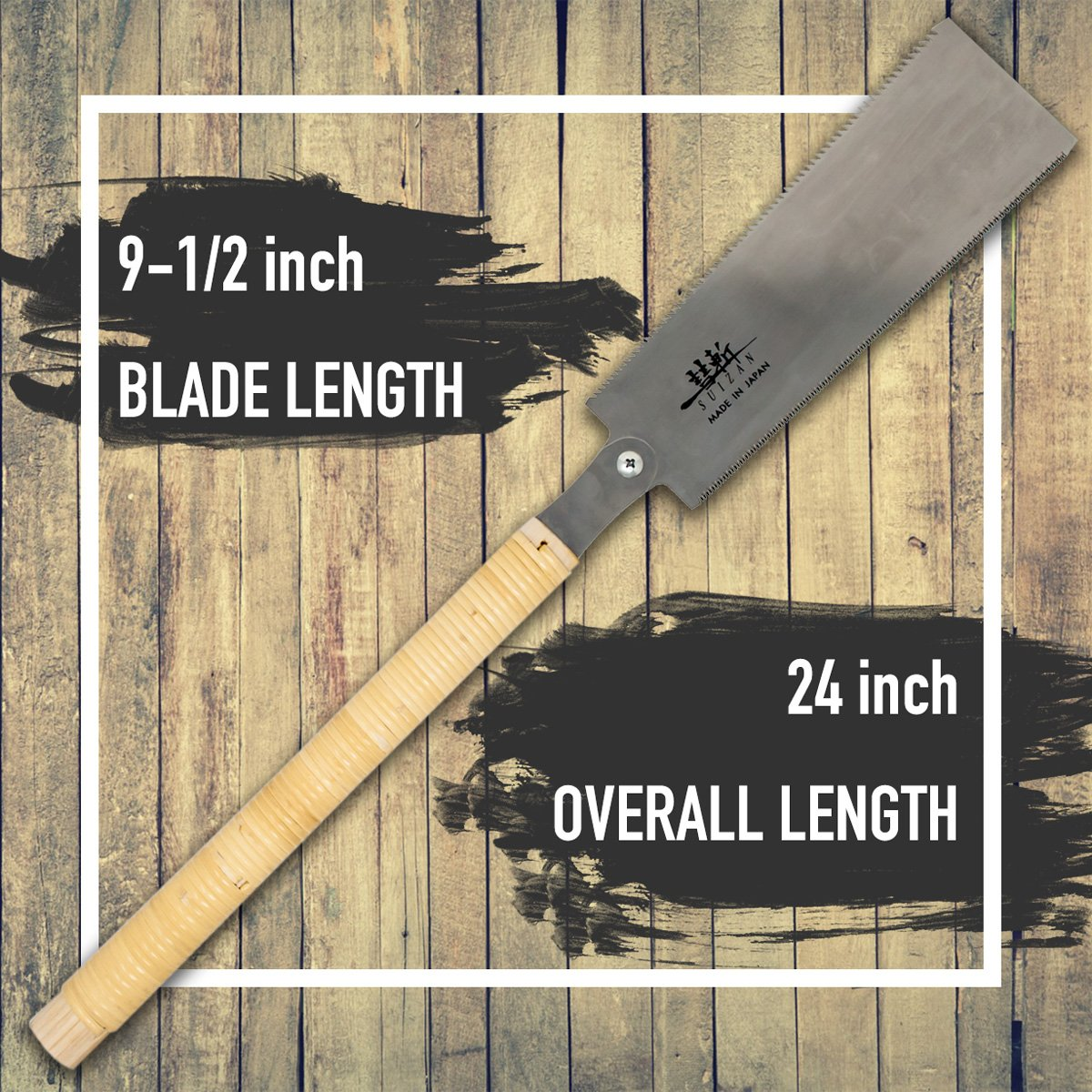 SUIZAN Japanese Pull Saw Hand Saw 9-1/2'' Ryoba (Double Edge) for Woodworking by SUIZAN (Image #2)