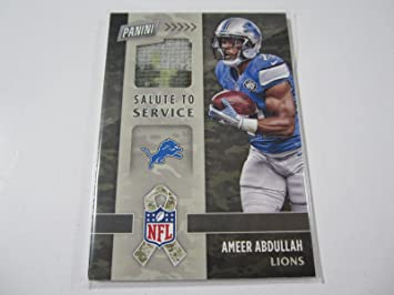 2016 Panini Black Friday  13 Ameer Abdullah Game Used Jersey Card Detroit  Lions - Panini 788e507b4