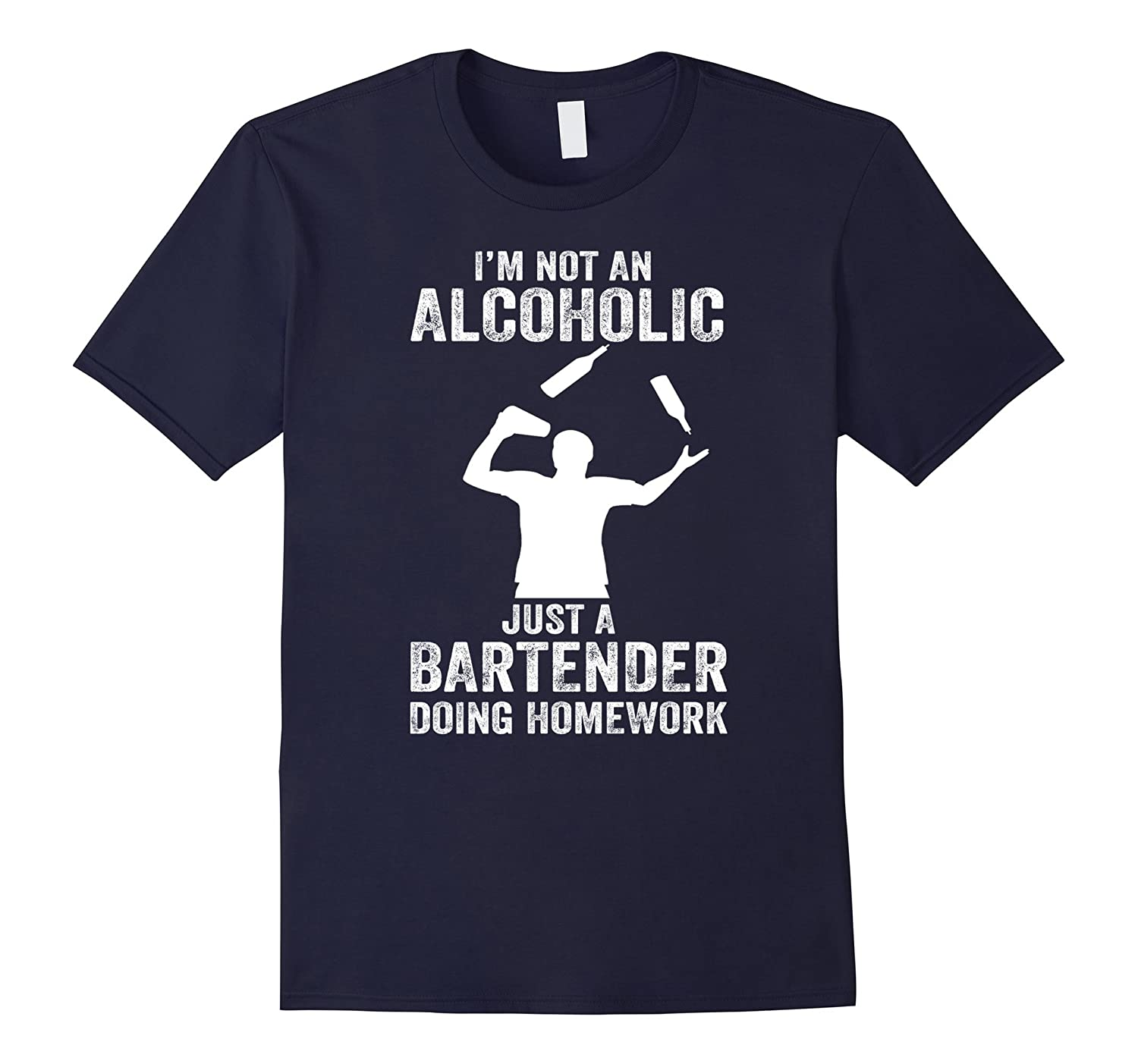 Bartender T-Shirt - I'm not an alcoholic, just a Bartender-CL