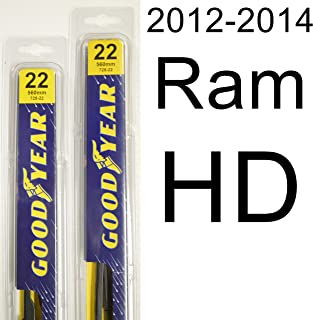 "product image for Ram HD (2012-2014) Wiper Blade Kit - Set Includes 22"" (Driver Side), 22"" (Passenger Side) (2 Blades Total)"