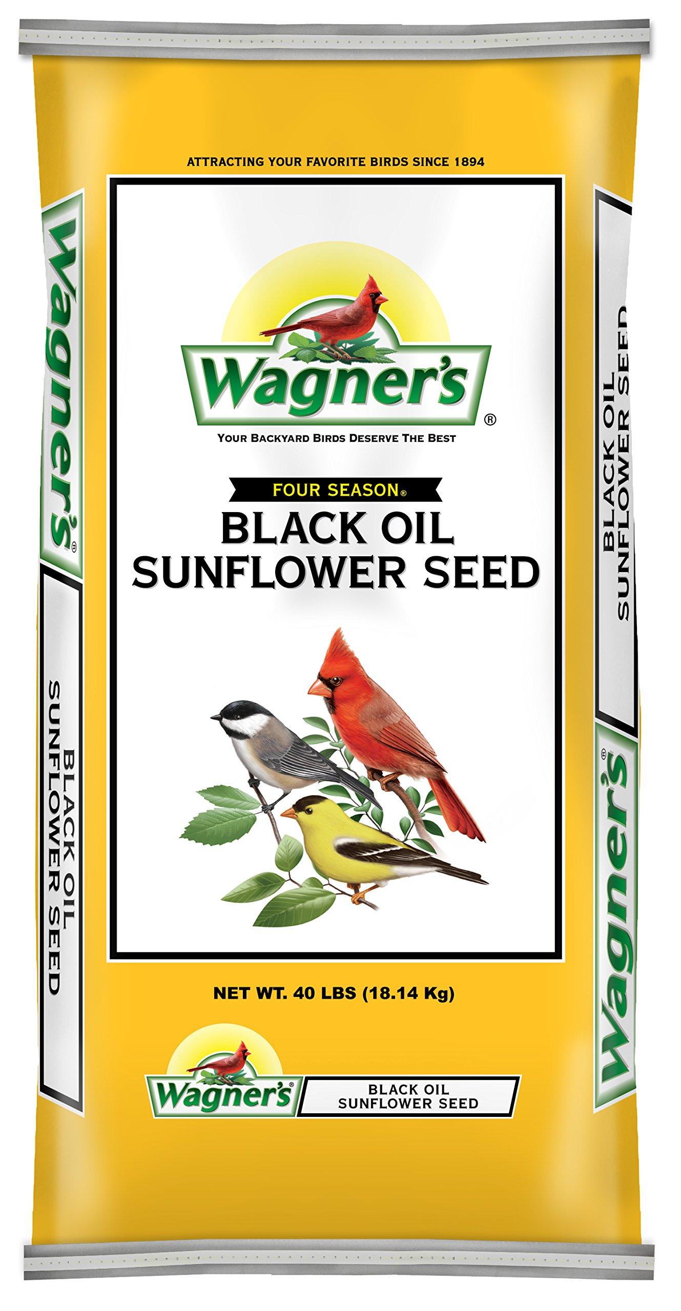 Wagner's 76029 Black Oil Sunflower Seed, 40-Pound Bag by Wagner's