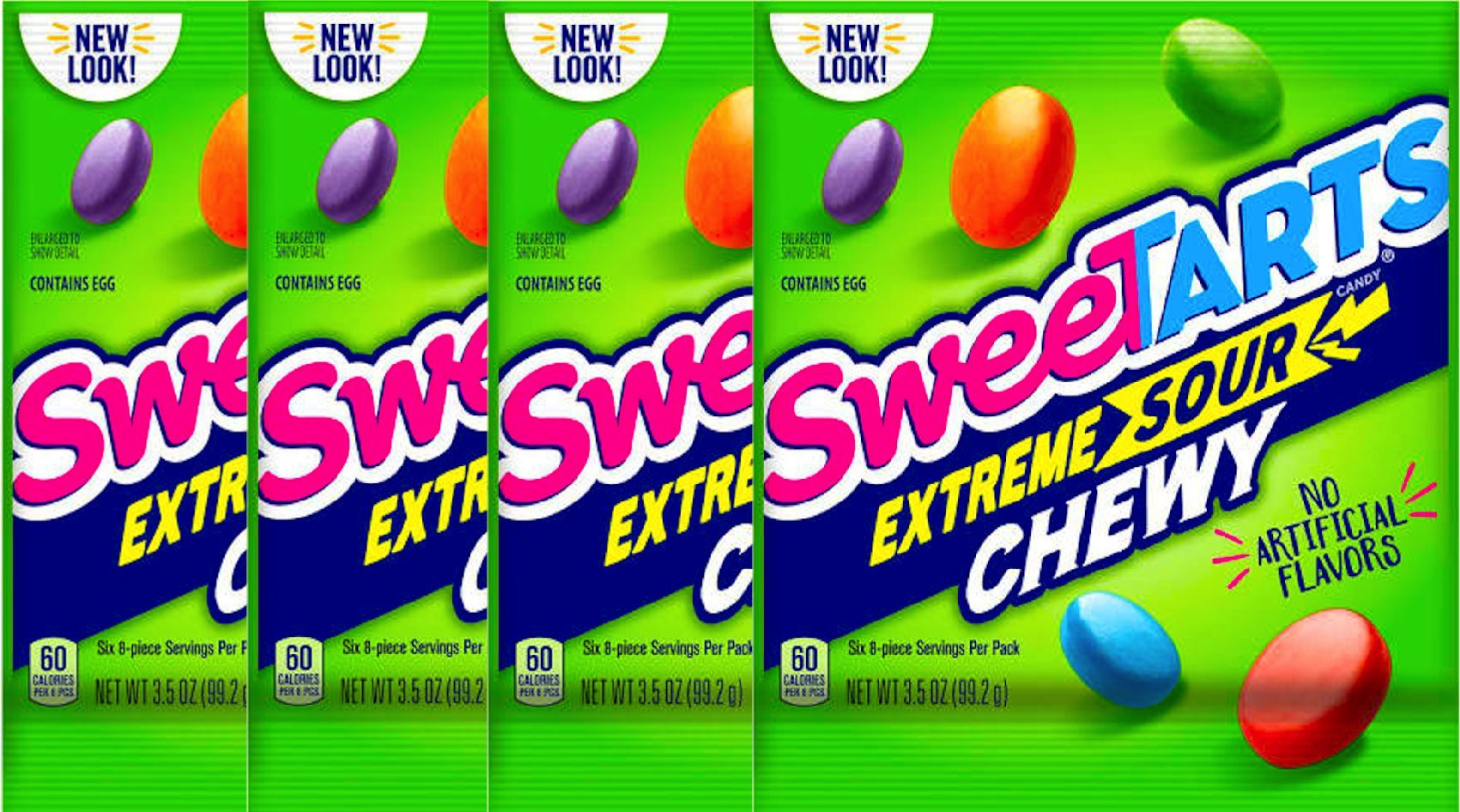 NEW Sweetarts Candy Extreme Sour Tangy, Chewy Sours Candy - 3.5 oz (4)