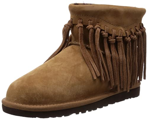 UGG Wynona Fringe, Botines para Mujer, Marrón (Chestnut/Natural), 37 EU: Amazon.es: Zapatos y complementos