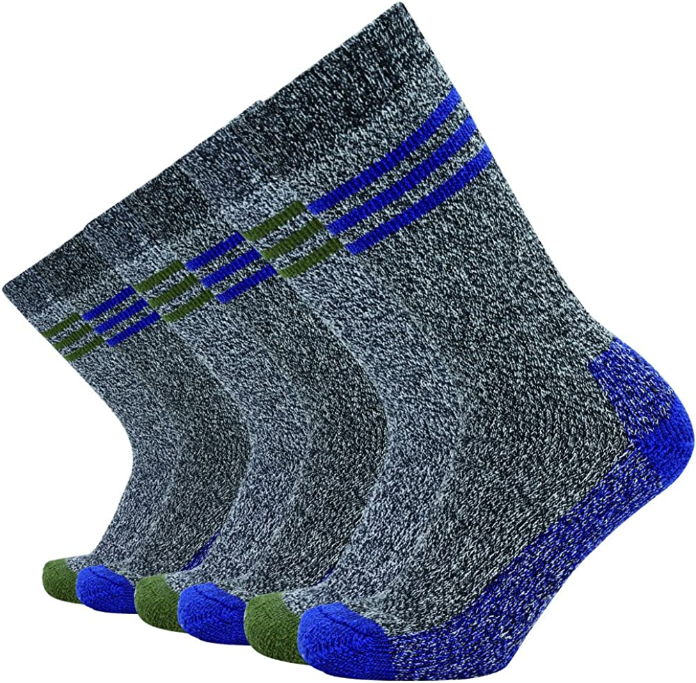 Enerwear Men's Cotton Thick Cushion Hiking Crew Boot Socks (6/10 Packs)