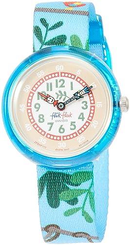 Flik Flak Reloj Analógico para Nios de Cuarzo con Correa en Tela FBNP112: Amazon.es: Relojes