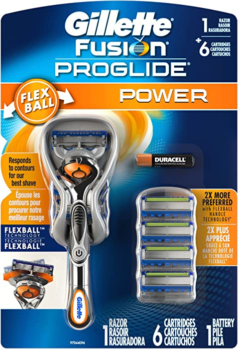 Gillette Mens Fusion Proglide Power With 6 Cartridges+Battery