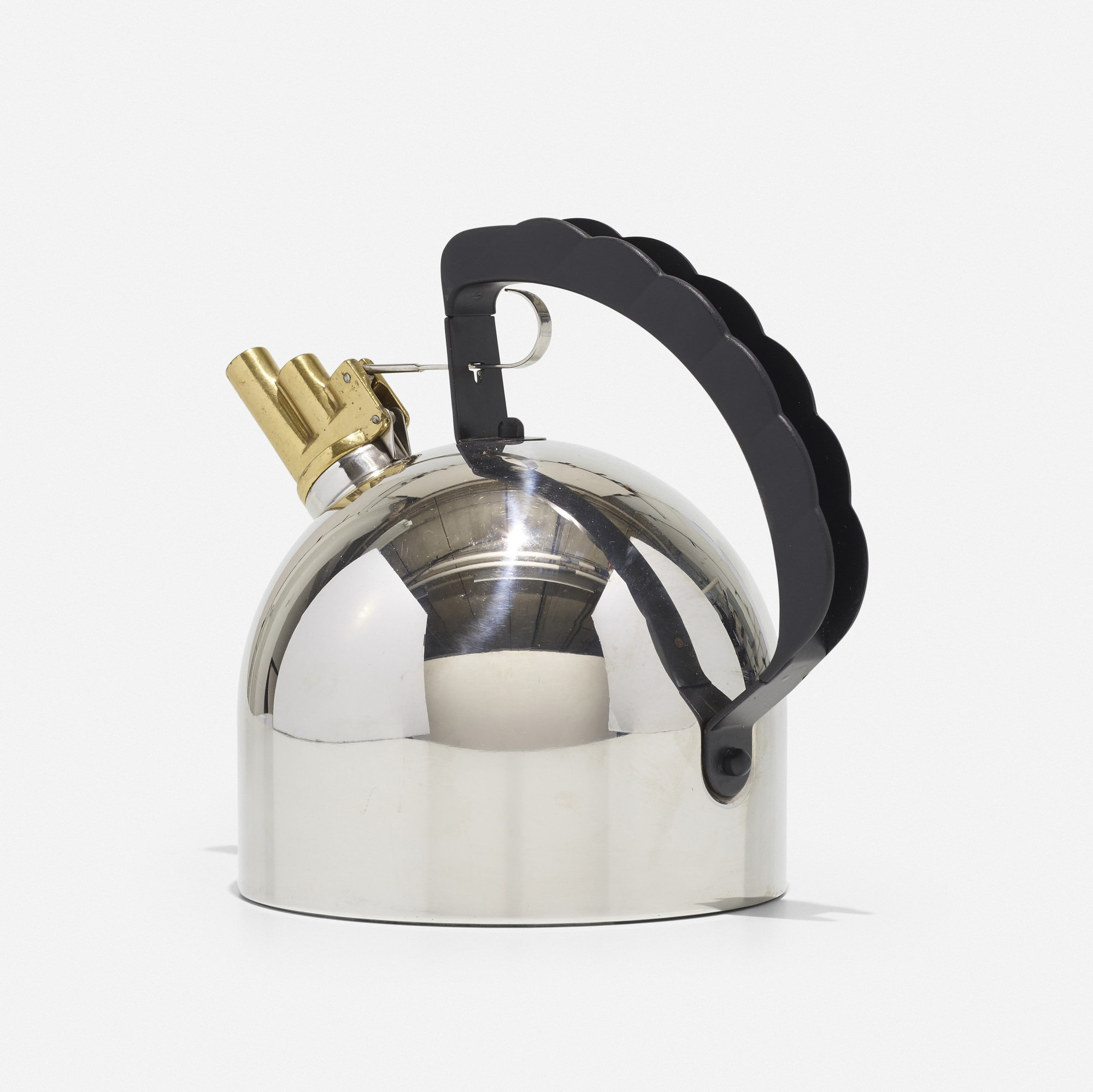 9091-FM Alessi Stainless Steel 2.1 Quart Whistling 'Magnetic Induction Kettle' for Induction Cooktops