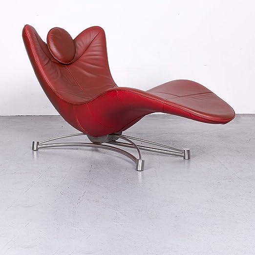 de Sede DS 151 Designer Leder Liege Rot Echtleder Relax ...