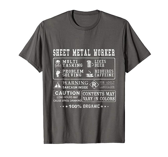 Amazon.com: Sheet Metal Worker Tshirt: Clothing