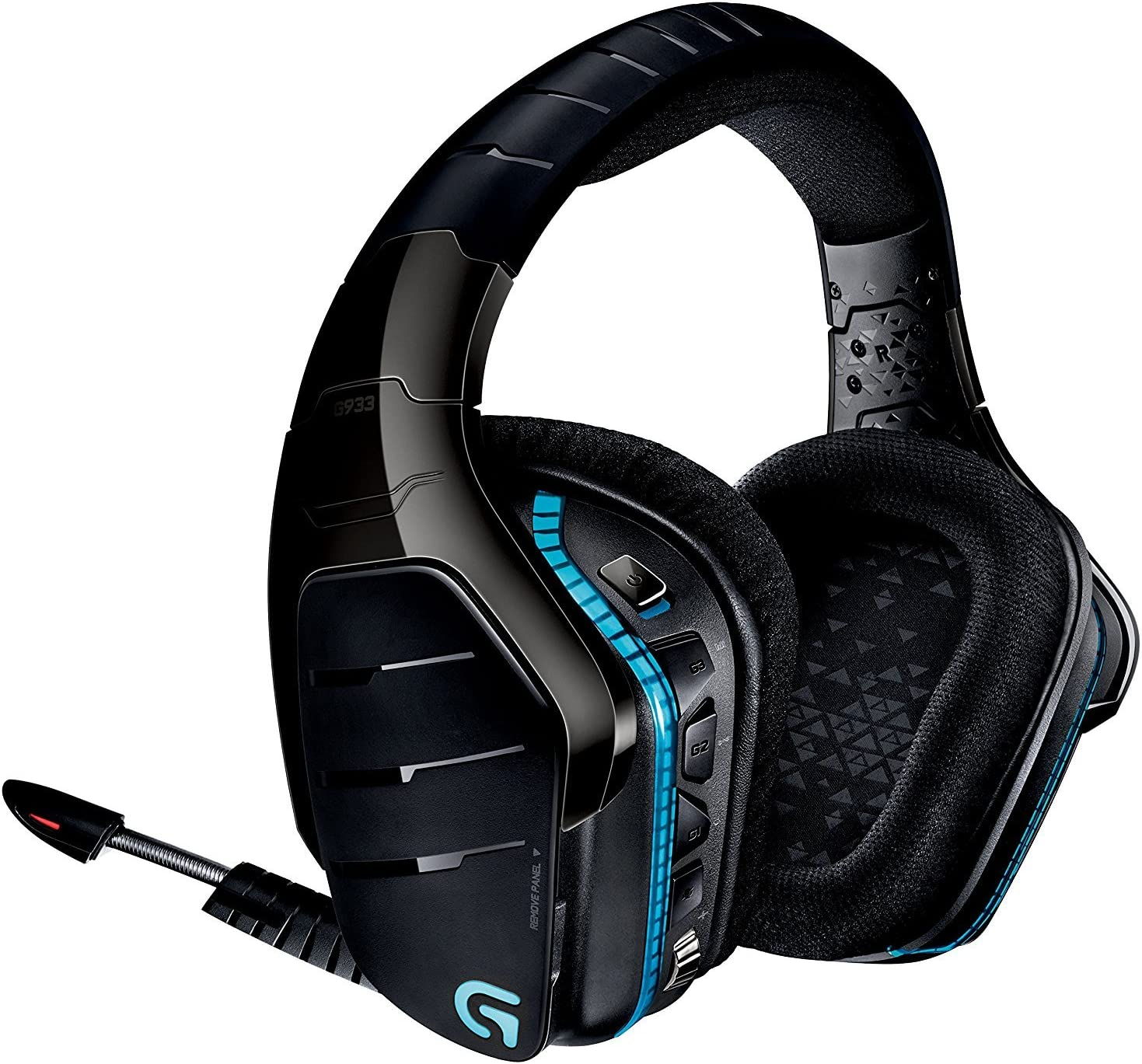 Logitech G933 Artemis Spectrum – Wireless RGB 7.1 Dolby and DTS X HeadphoneX Surround Sound Gaming Headset – PC, PS4, Xbox One, Switch, and Mobile Compatible – Advanced Audio Renewed