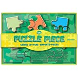 Fox Run Brands Puzzle Pieces Cookie Cutter Set, Metallic