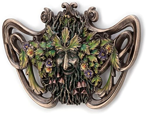 Veronese Design Green Man Spring Mushroom Wall Plaque